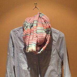 Jcrew striped linen scarf